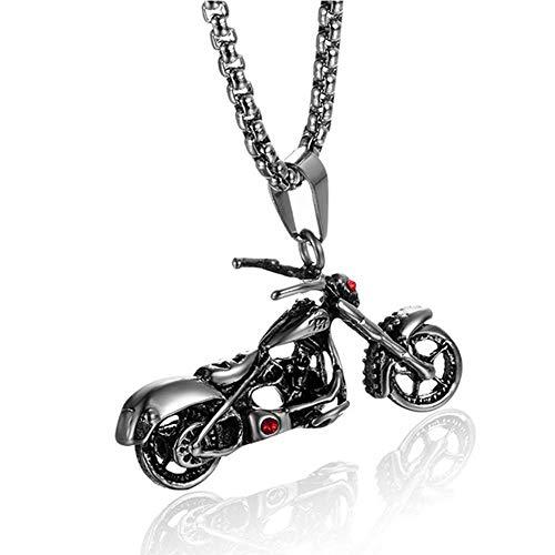 Xinmeitezhubao Herren Halskette, Motorrad Titan Stahl Anhänger, Vintage Punk Artikel