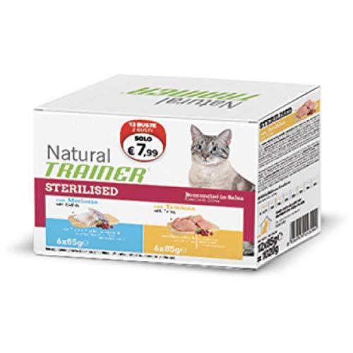Trainer Natural Cat Bocconcini in Busta STERILISED 12 Buste x 85 gr.