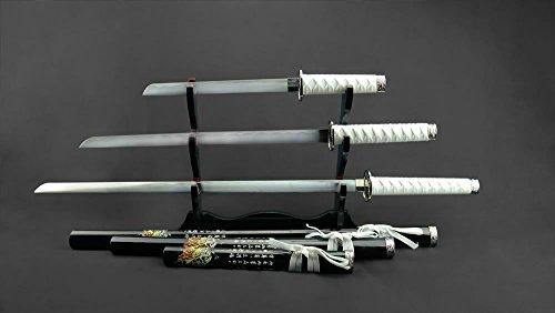Dragon Samurai Katana Schwert Set in Schwarz und Weiß - 104cm