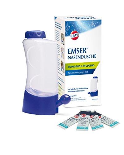 Emser Nasendusche Nasanita inkl. Nasenspülsalz – Nasenspülung bei Erkältung, Allergie und zur Nasenpflege – 4 x 2,5 g Beutel