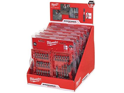Preisvergleich Produktbild Milwaukee Shockwave Bohrer & Bit Kompakt-Set, Thekendisplay 6x 30-tlg.