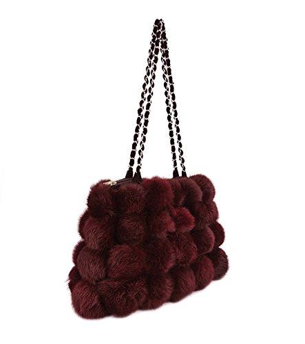 Genda 2Archer Sacchetto di Modo Lane Artificiali Borsa a Tracolla a Mano per le Donne (32 cm * 6cm * 20cm) (Vino Rosso) Vino Rosso