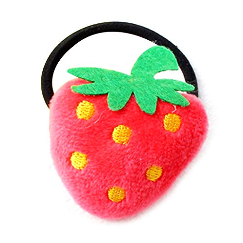 BulingLU 5 Arten Süße Mädchen Gummiband Plüsch Samt Cartoon Obst Erdbeer Karotte Tuch Handwerk