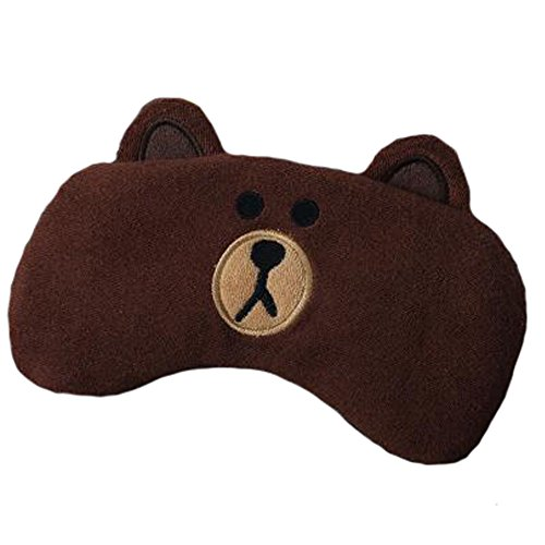 Reizende Schatten-Schlaf-Masken-Tier-Schlaf-Maske Justierbare Augen-Abdeckung Weiche Schlaf-Maske, (Braunbär Maske)