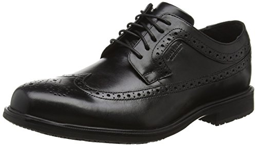Rockport Herren Essential Details Ii Wingtip Derby Schnürhalbschuhe Schwarz (Black Leather)