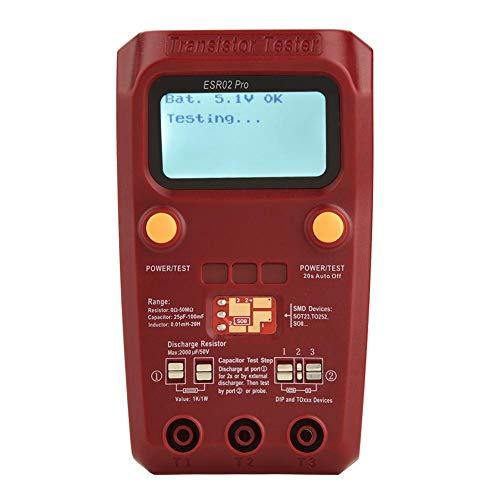 Akozon Transistor Tester, ESR02 Pro Digitaler Transistor Tester SMD Chip Komponente Meter Induktivität Multimeter-Messen Widerstand, Dioden, Trioden, Thyristoren, MOSFET Digitale Komponente