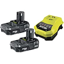 Ryobi RBC18LL13 ONE+ 2 x 1.3 Ah Lithium Battery and 45 Minute Charger, 18 V