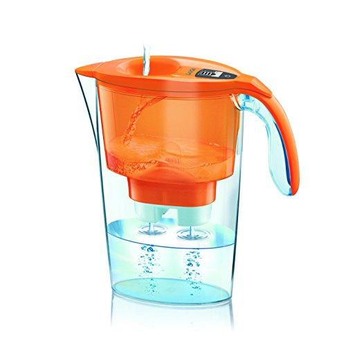 Laica j31ac stream line caraffa filtrante, plastica, arancio