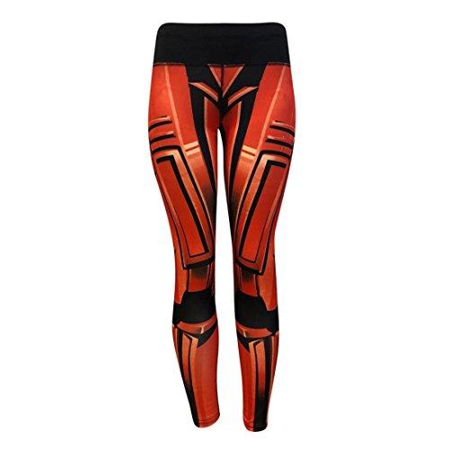 Yoga Leggings Gris Bleu Orange Femme, Mode Féminine Leggings D'entraînement Fitness Sports Gym Running Yoga Pantalon Athlétique Par Xinantime