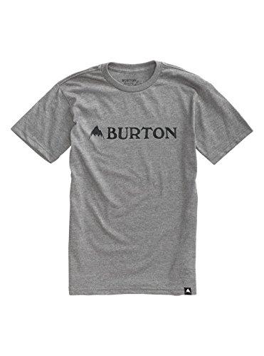 Burton Herren Mountain Horizontal Short Sleeves T-Shirt Gray Heather