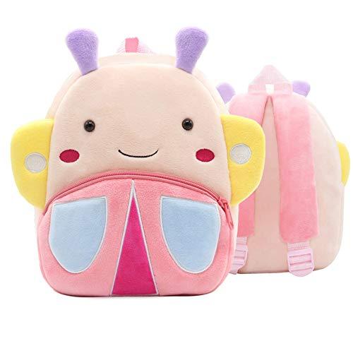 WFZ17 Kinder-Rucksack, Cartoon-Flamingo-Tier-Plüsch-Reißverschluss, Schulranzen Butterfly**