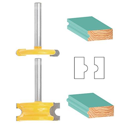 yunso Zunge und Groove Set, 21/10,2cm Schaft Kanu Flöte und Bead Router Bit Cutter Werkzeug Set für Holz (Bit Bead Router)
