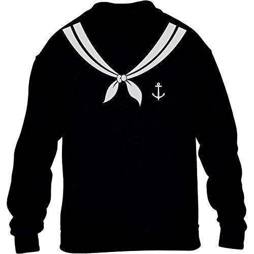 KIDS Karnevalskostüm Matrose Matrosin Kostüm Fasching Kinder Pullover Sweatshirt X-Large Schwarz