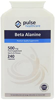 Pulse Healthcare 500mg Beta Alanine Premium Quality GMP Supplement - Pack of 240 Capsules