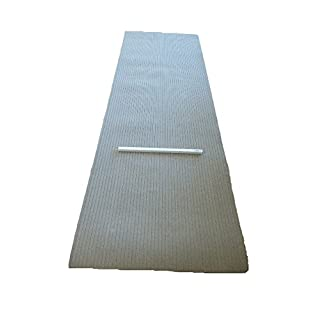 Dartteppich 100 x 300 cm beige Steeldart Teppich Dartmatte hart robust mit Oche
