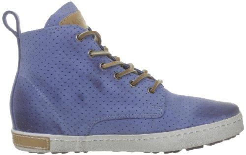 Blackstone Perforated High, Baskets mode femmes Bleu (Jeans)