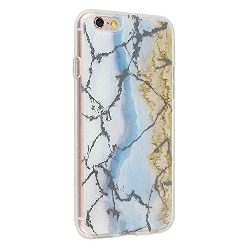 iPhone 6/6S Backcase, iPhone 6 Handyhülle Marmor, iPhone 6S Handyhülle Marmor, Marble Marmor Design, Moon mood® Hülle für Apple iPhone 6/6S 4.7 Zoll Weich Silikon TPU Hülle Handytasche Etui Bumper Fle Marmor 12