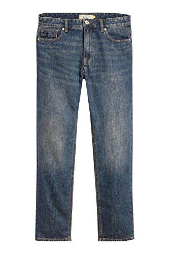 next Herren Jeans Straight Fit Schmutzig Denim