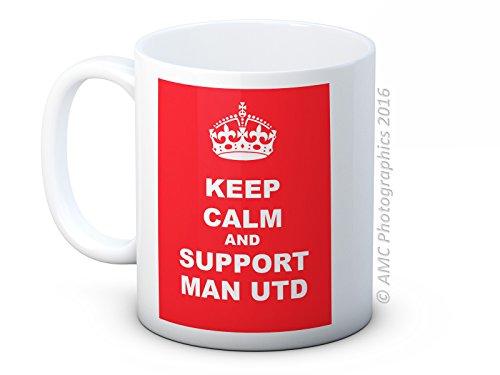 Keep Calm and Support MAN UTD – Manchester United MUFC Football Club – High Quality Coffee Tea Mug