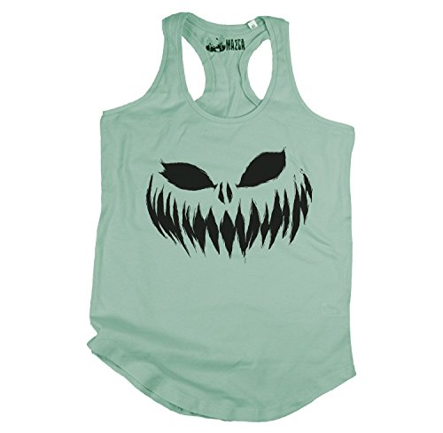 Ma2ca® Halloween Pumpkin Smiley black Frauen T-Shirt Sols (Jade Womens Kostüme)