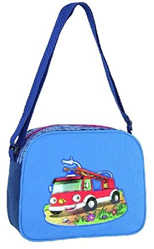 Umhängetasche Feuerwehr Kindertasche - 2 Fächer Junge Jungen Auto Fahrzeug