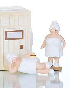 spardose sauna komplett mit figuren saunakasse geburtstagsgeld geldgeschenk. Black Bedroom Furniture Sets. Home Design Ideas