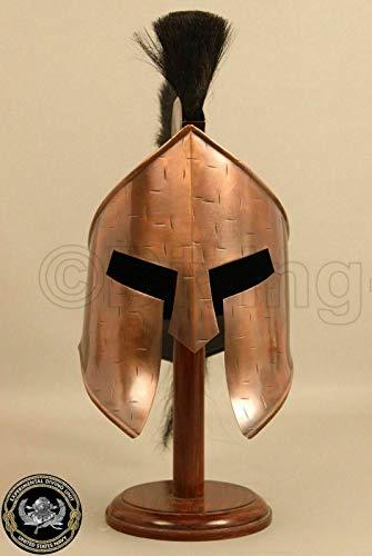 Calvin300 König Leonidas Spartan Helm Warrior Kostüm Mittelalterlicher Helm | Mittelalterlicher Helm | Maske Partyhelm|