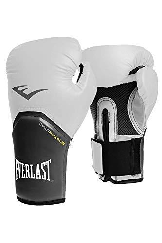 Everlast Boxhandschuhe Elite Pro Style schwarz rot blau weiss pink 8 10 12 14 16 Oz (weiss, 12 Oz)