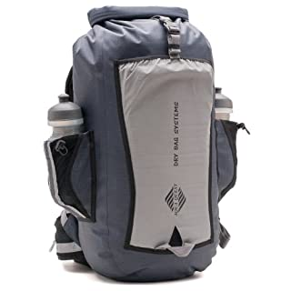 Aqua Quest SPORT 25 PRO Grey Waterproof Backpack with Roll Top to Protect Laptop for Men, Women, Students