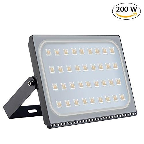 Samber LED Projecteur Étanche IP67 Projecteur de Lumière Extérieur Lampe LED Extérieur 220V 150W Blanc Chaud