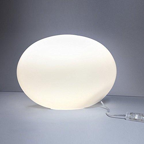 s.LUCE Tischleuchte Sitter M Opalglas Ø 30cm Weiss Tischlampe Kugelleuchte Nurglasleuchte (Opalglas-tischleuchte)