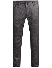Pantalon de costume homme à carreau pants d'affaire