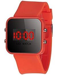 ZARLLE Reloj Coloreado Digital, Pantalla Led Digital Unisex De Silicona Correa Cuarzo Reloj De MuñEca