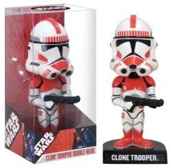 Star Wars Red Clone Trooper Comic Con 2007 15cm Wackelkopf Figur (Shock Trooper) Clone Trooper Bobble Head