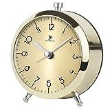 lowell JM Réveil à Quartz analogique, métal, Or, 9x 5.5x 11cm