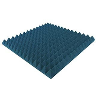 Akustikpur - 10 pcs Approx 49 cm X 49 cm/5 cm - Acoustic Foam Colour Blue, Pyramids Acoustic Foam, Acoustic Insulation, Recording Studio