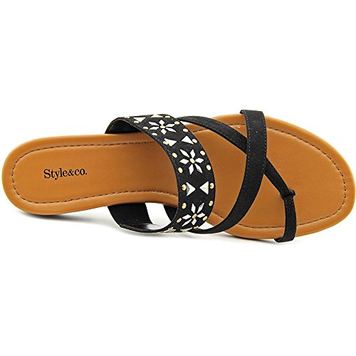 Style & Co Behati Daim Tongs Black