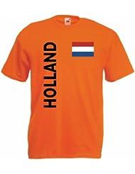 world-of-shirt Holland/Nederland Herren T-Shirt Trikot|L