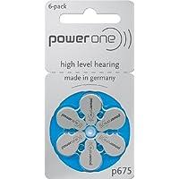 60x PowerOne P675Azul pilas para audífonos