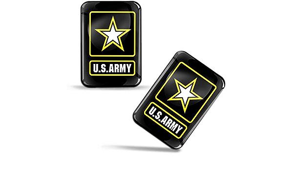 Biomar Labs 2 X Aufkleber 3d Gel Silikon Stickers Armee Der Vereinigten Staaten Flagge Amerikanische Stern Amerika Usa Army Flag Militär Fahne Auto Motorrad Fahrrad Fenster Tür Pc Tablet Laptop F 109