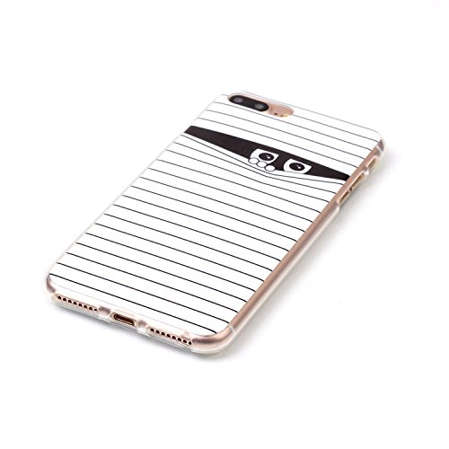 iPhone 7 Plus Hülle,iPhone 7 Plus Case, Cozy Hut Kreativ Design 3D Transparent TPU Hard Case Hülle Diamond Sequins Hülle Tasche Handyhülle Glitter Glitzer Sparkle Hart Plastik HardCase Crystal Clear R Maskierte Männer