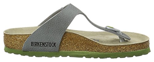 Birkenstock Gizeh Birko-Flor Softfootbed, Ciabatte Unisex – Adulto, Grau Grau (Desert Soil Grey)