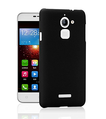 WOW Imagine™ Rubberised Matte Hard Case Back Cover For COOLPAD NOTE 3 LITE (5.0 inch) - Pitch Black