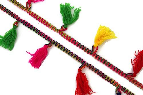 Generic Quaste trimmen handgefertigte Schal Spitze Sari Quaste Grenze Quaste Vorhang trimmen Spitze Quaste dekorative Spitze-Preis für 01 Yard-Idl41 -