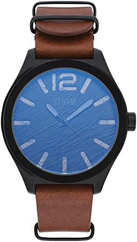 Storm London OXLEY SLATE LEATHER 47393/SL/BR Orologio da polso uomo