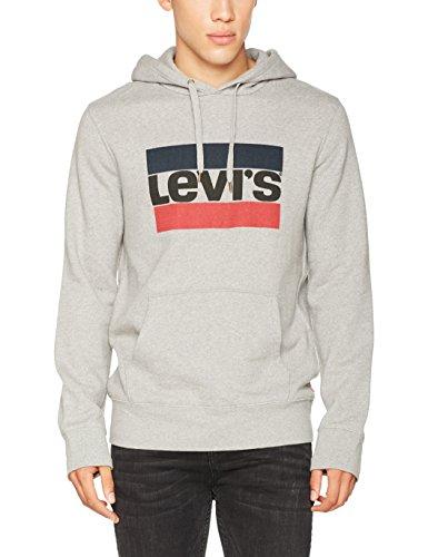 Levi's Herren Sportkapuzenpullover Graphic PO Hoodie-B, grau/84 Sportswear Logo Midtone Grey Htr 0028, Large (Sweatshirt Logo Man Hoody)