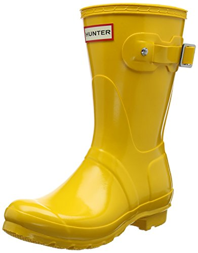 Hunter Damen Low Wellington Boots Gummistiefel Gelb (Yellow Ryl)