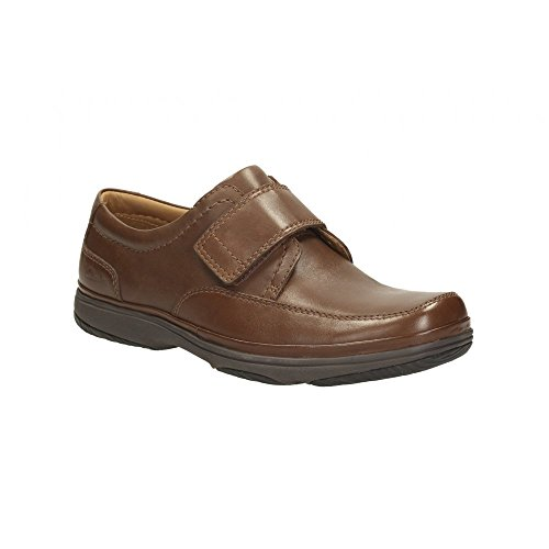 Clarks C And J Détente Homme Chaussures Swift Turn En Cuir Marron