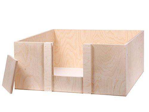 Alsino Wurfbox Welpenbox Wurfkiste Welpenkiste für Hunde & Katzen, aus Holz - handgefertigt -...