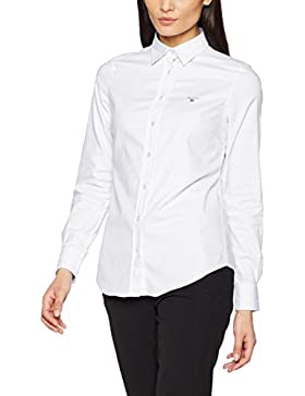 Gant Solid Stretch Oxford Shirt, Camisa Para Mujer